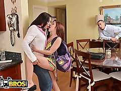 BANGBROS - Flunking Step Daughter Gets A Golden Rachel Starr, With A Side Of Bruno Dickemz