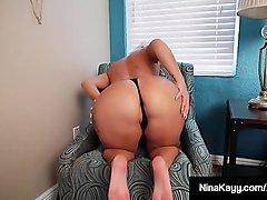 Big Booty &amp_ Big Boobed Nina Kayy Dildo Fucks To Orgasm!