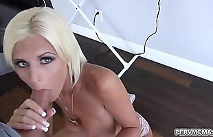 Hot stepmom just got down on her knees and started to suck!