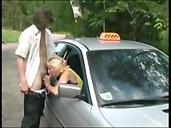 Mature russian taxi seducing.
