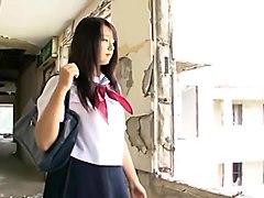 ai shinozaki wearing a school uniform