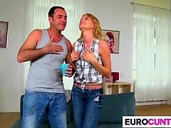 euro girl bree haze takes two dicks