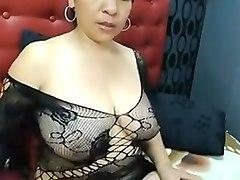 Colombiana tetona en webcam