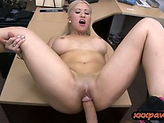 big tits stripper drilled by pawn dude in his pawnshop