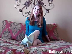 video, spanking, femdom, ballbust, brutal