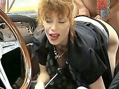 insane german redhead fisting her butthole to warm up for anal sex
