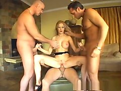 Incredible pornstar Michelle Louise in amazing swallow, gangbang porn video