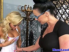 busty spex lezdom analfucked with strapon