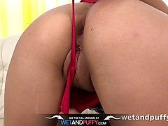 orgasm - lilly teases her pussy with an electric toothbrush