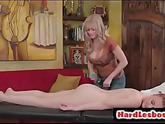 Marie McCray &amp_ Serene Siren - Blondie masseuse gives boobs massage