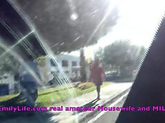 masturbation on voyeur live cam from my car on the parking