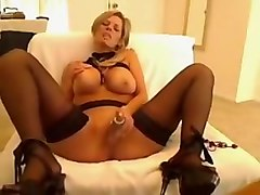 Crazy Amateur movie with Big Tits, Masturbation scenes