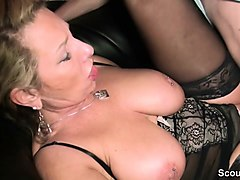 german milf teach young couple to fuck good