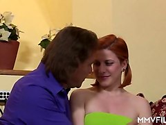 natural german amateur redhead teen first casting