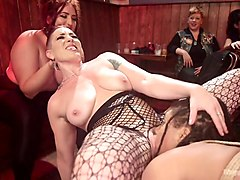 crazy lesbian bitch mona wales takes part in crazy bdsm orgy