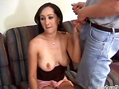 busty amateur in homemade dp threesome