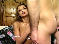 hot and filthy european babe double penetrated and sprayed with cum