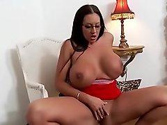 Emma butt teases  and masturbates