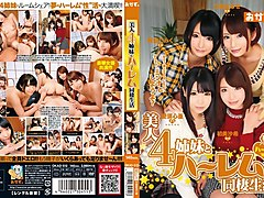 Exotic Japanese chick Nanase Otoha, Miku Abeno, Cocoa Aisu, Saki Hatsuki in Best pov, group sex JAV video