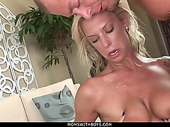 MomsWithBoys - Hottie MILF Brooke Banner Tit And Pussy Fucked