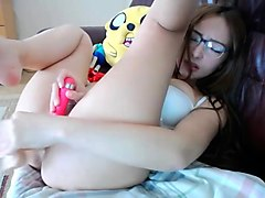 Cute Lena gets naked on live chatcam on SexyChatCam - Part 2