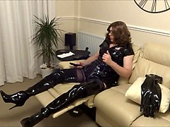 Alison Thighbootboy and the zepplin inflatable anal plug