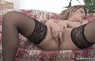 Girl with big tits, Nikky Dream is masturbating in 4K