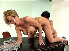 Exotic pornstars Shay Fox and Destiny Porter in incredible big tits, piercing porn video