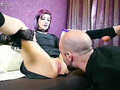 Nadya fucked hard by Jean-Marie Corda while having a dildo in her young tight ass