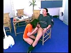 hairy euro couple dildo and fucking