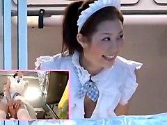 Horny Japanese girl Hinata Tachibana, Kotone Amamiya in Fabulous Cunnilingus, Public JAV movie