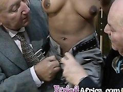 weird ebony sluts like hardcore sex in group