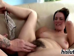 horny gilf has her hairy pussy drilled
