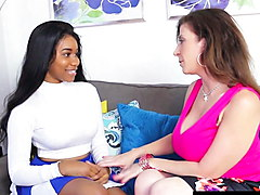 Young Ebony Jenna Foxx Takes Sex Lessons By PAWG Sara Jay!