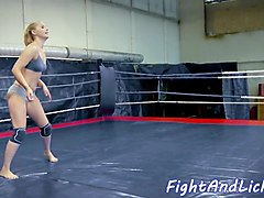 asian babe wrestling with euro dyke