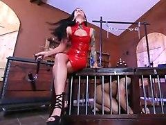latex high heels mistress special toy fuck slave fetsh hardc