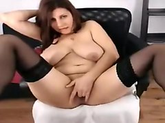 Horny Homemade video with Stockings, Solo scenes