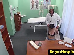 busty euro fingered by doctor before riding