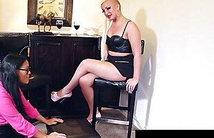 Maxine X Shows Her Step Son's GF Skylar Harris How To Cum!
