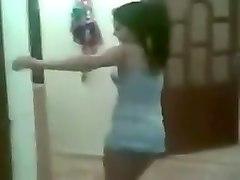 my sex-crazy asian wife is dancing in vulgar short dress
