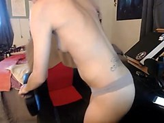 ass spanking, nipple clamps, ballgag