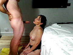 Super hot amateur Milf begs husband for a threesome