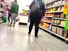 Big Butt BBW Black Spandex