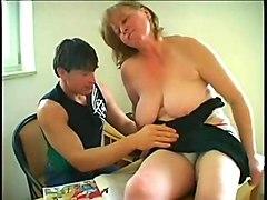bbw saggy big tits granny sex