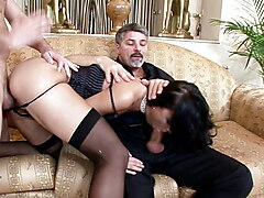 Business Women Suzie Fuck at Anal DP Foursome with Big Dick