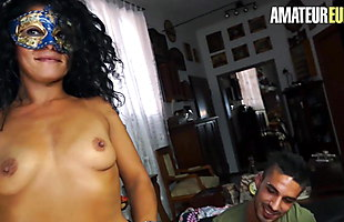 AMATEUR EURO - Brunette Romanian Gets Ass Fucked In Casting