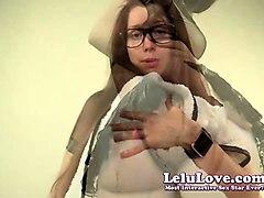 lelu love-pee desperation striptease shower peeing