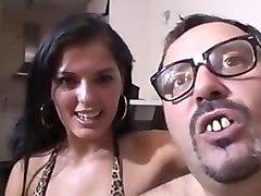 an ugly guy fucks a beautiful slut