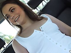 cute teen kylie quinn screwed in the cab