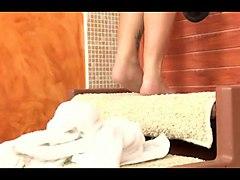 hairy granny in bathtub